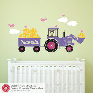 Tractor Girl Wall Decal