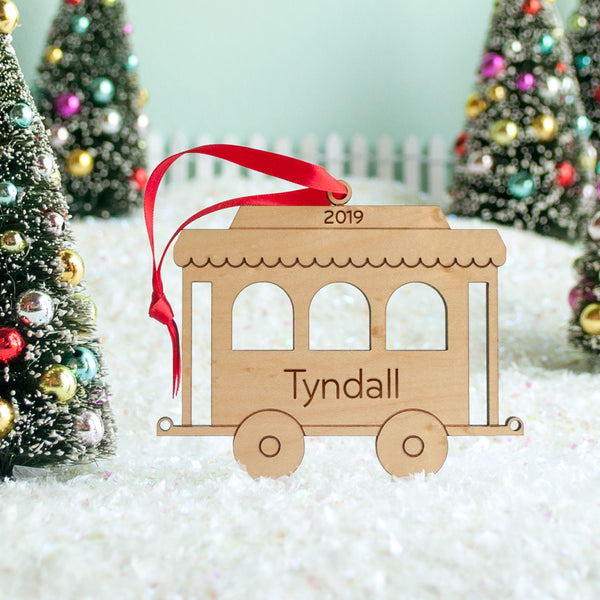 Train Wooden Christmas Ornament: Coach Car (#3 in Series)
