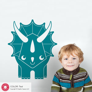 Large Triceratops Dinosaur Wall Decal
