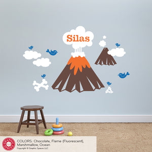 Volcano Wall Decal
