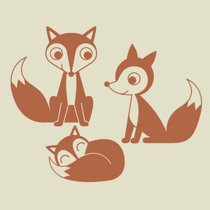 Fox Family Wall Decals