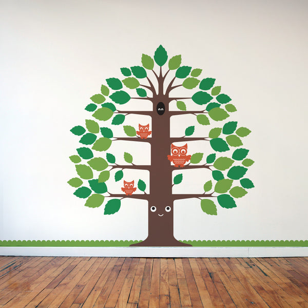Nursery Happy Tree Wall Decal
