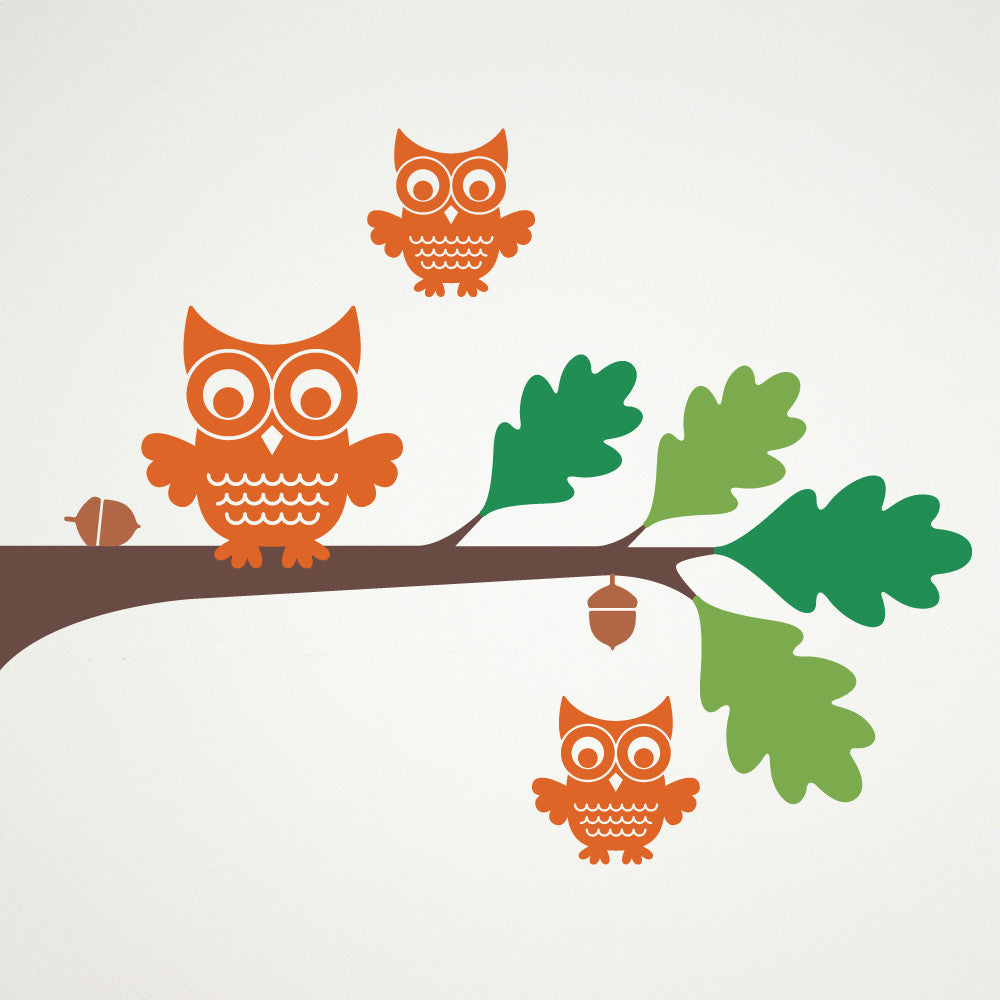 ... Owl Tree Branch Wall Decal ... Part 48