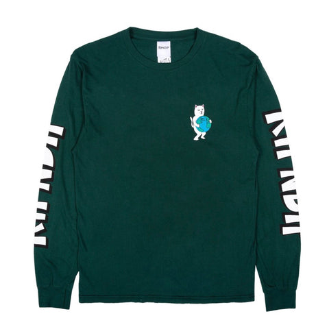 RIPNDIP - Fuck Everything Longsleeve (Hunter Green)