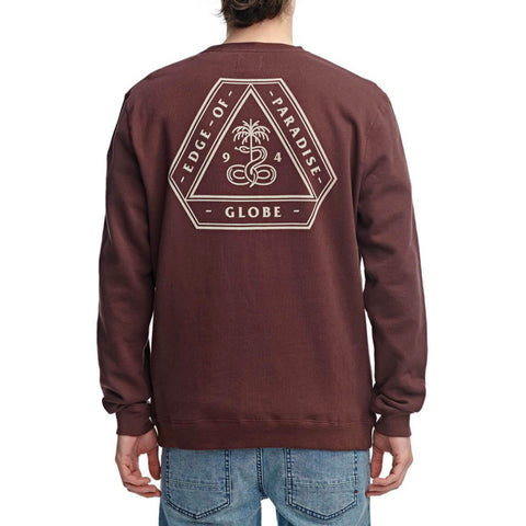Globe - Edge of Paradise Crewneck (Oxblood)