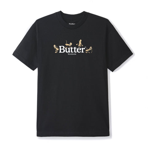 Butter Goods - Monkey T-Shirt (Black)