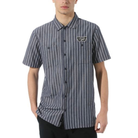 Vans - Coleman Shirt (Dress Blues - Stripe)