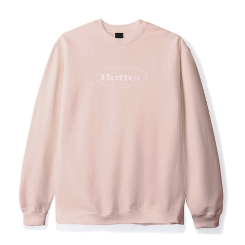 Butter Goods - Badge Puff Logo Crewneck (Dusty Pink)