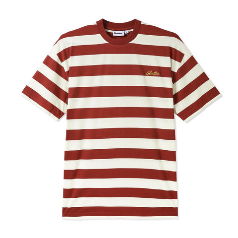 Butter Goods - Grove Stripe T-Shirt (Rust)