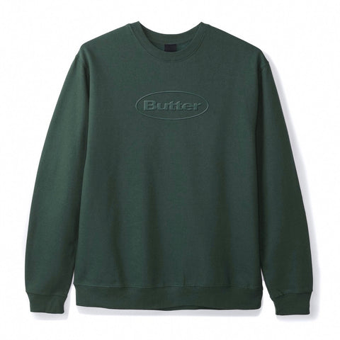 Butter Goods - Badge Puff Logo Crewneck (Forest Green)