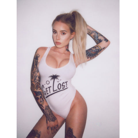 Get Lost Bodysuit White (sold out)