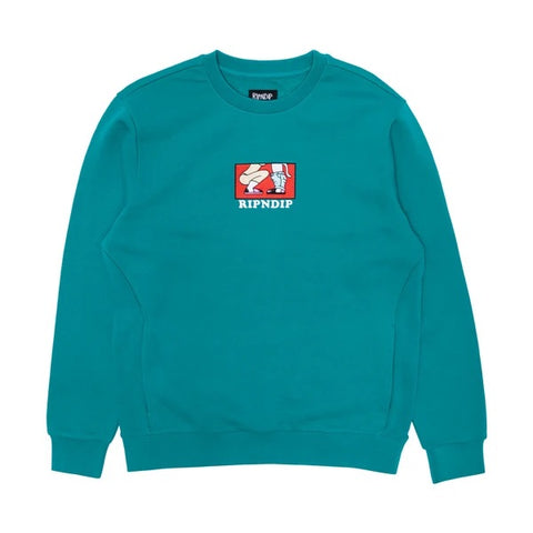 RIPNDIP - Love is Blind Crewneck (Teal)