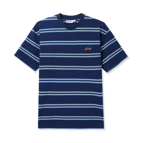 Butter Goods - Market Stripe T-Shirt (Navy)