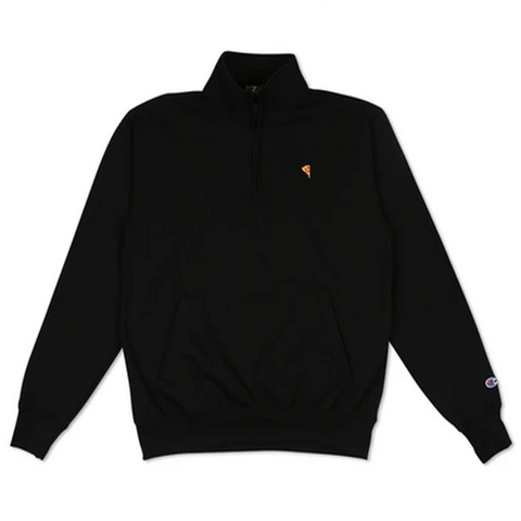 Pizza Skateboards - Emoji 1/4 Zip Fleece (Black)