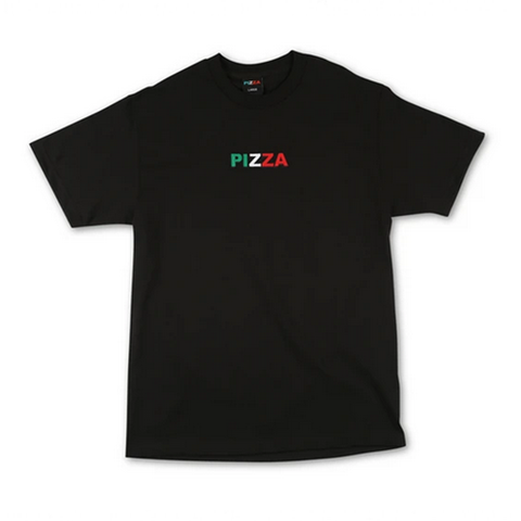 Pizza Skateboards - Tri Logo T-Shirt (Black)