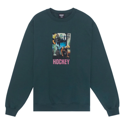 Hockey - Baghead 2 crewneck (Dark Green)