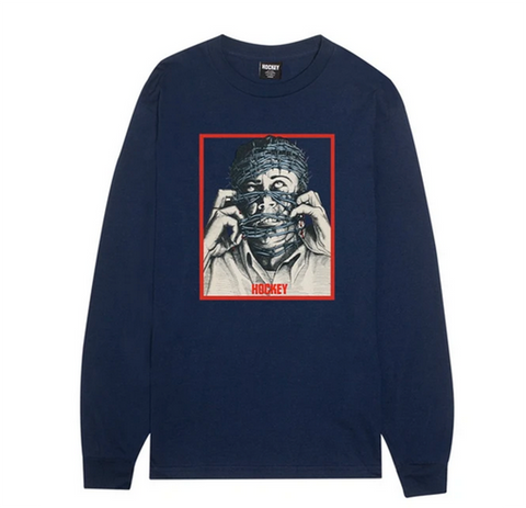 Hockey - Barb Wire Longsleeve (Navy)