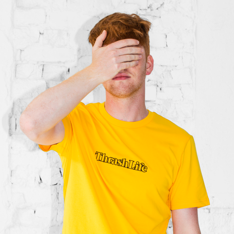 ThrashLife - Classic Outline Logo T-Shirt (Spectra Yellow - Black)
