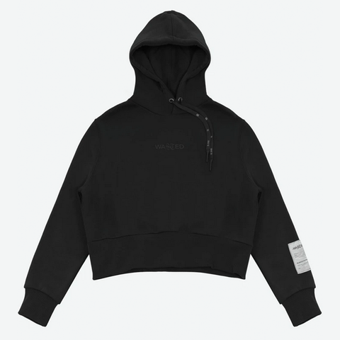 Wasted Paris - Women Crop Hoodie Essential (Black)