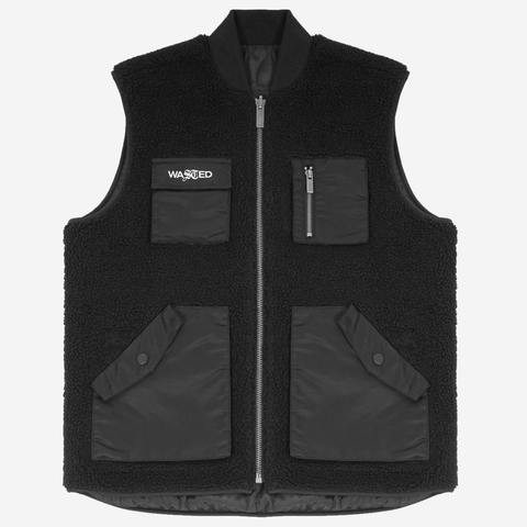 Wasted Paris - Reversible Mountain Vest (Black)
