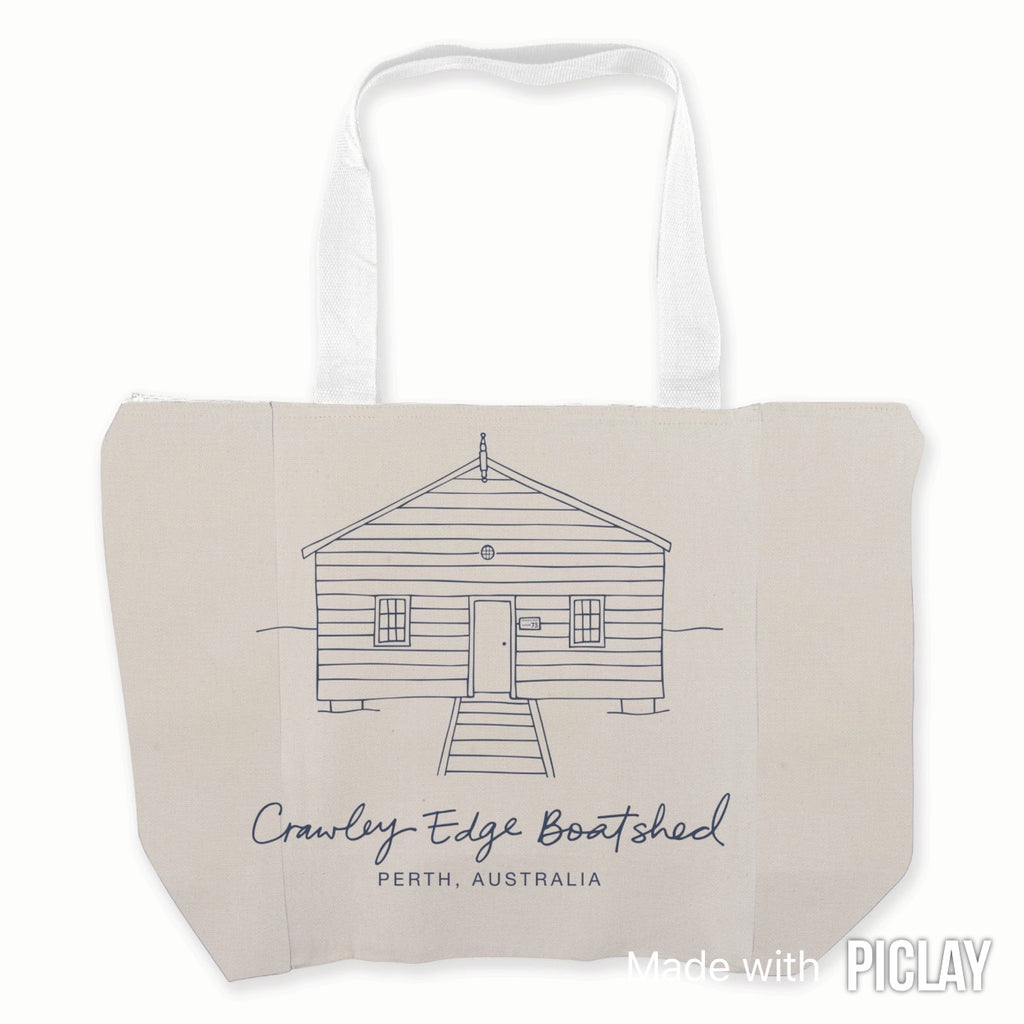 Calico tote bag (stencil design)