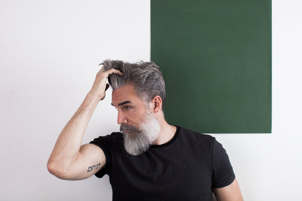 Grey Haired Man with Epic Beard Who Looks Like Zeus.