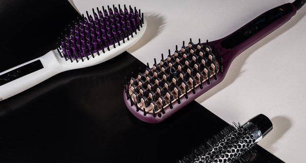 The InStyler Straight Up Heated Brush and the Remington 2-in-1 Heated Brush