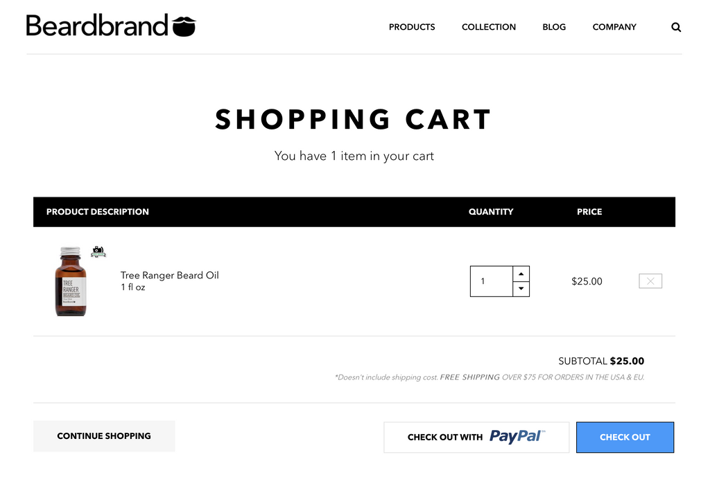 Beardbrand cart