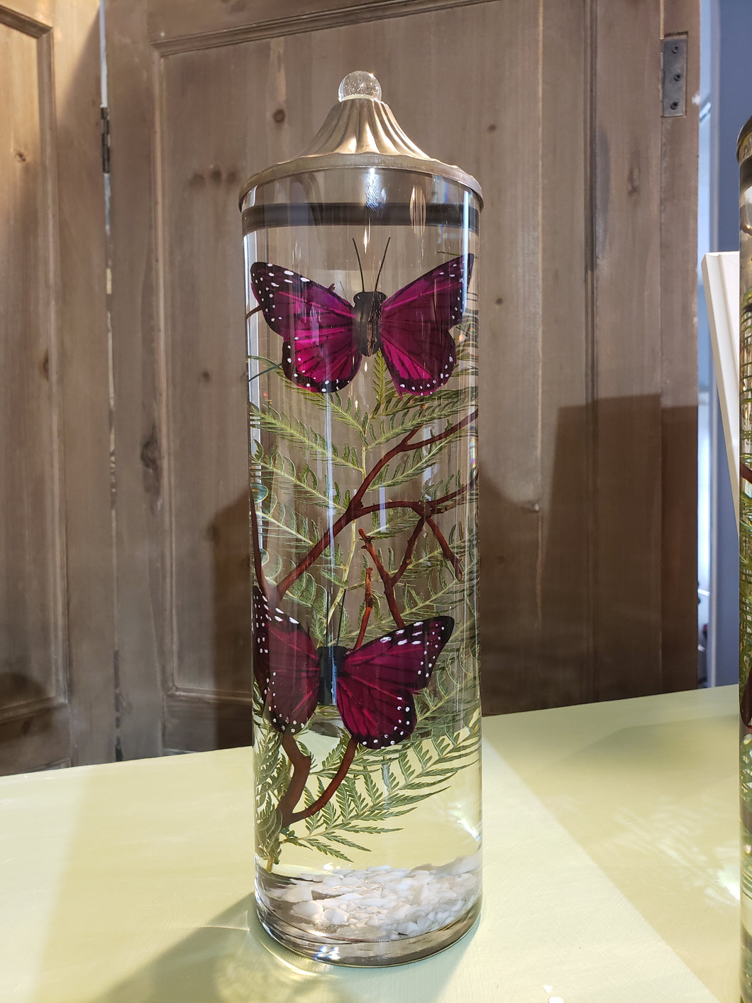 Purple Butterfly Large Cylinder