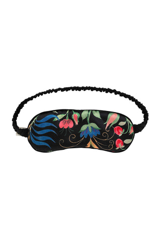 Anaïs Black Silk Eye Mask | Silk Accessories | YOLKE