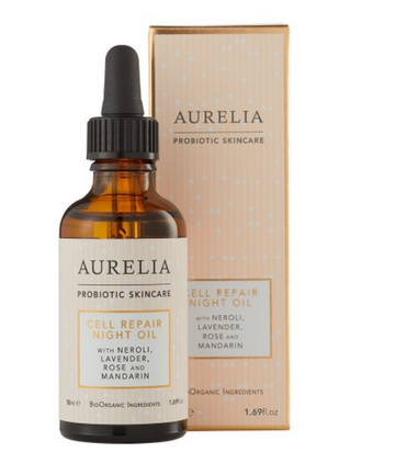 Silk Eye mask & Aurelia Night Oil Gift Set