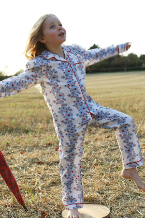 LiTTLE Blossom Cornflower Cotton Pyjamas