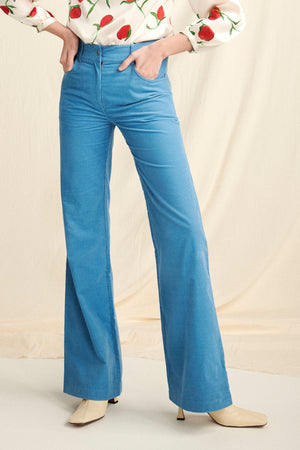 Bow Jean in Cornflower Blue