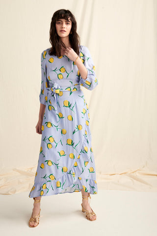 Calamity Dress Lemon Print