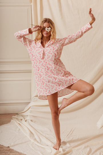 Country Vine Sleepshirt | Cotton Pyjama Sets & Sleepwear | YOLKE