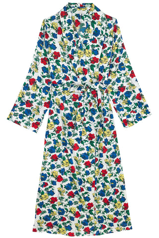 Dakota Meadow Silk Dressing Gown
