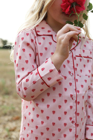 LiTTLE Queen of Hearts Cotton Pyjamas