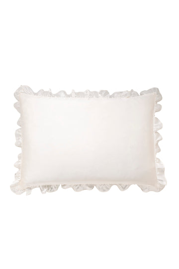 Silk Pillowcase with Ruffle