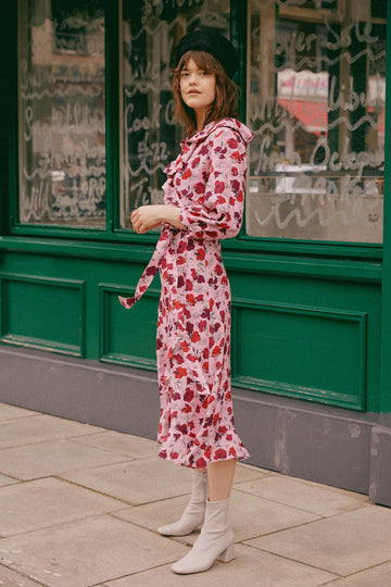 Josephine Wrap Dress Dakota Plum