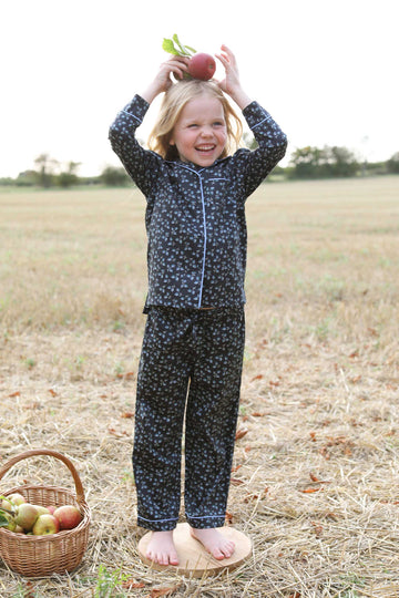 LiTTLE Leaf Print Cotton Pyjamas