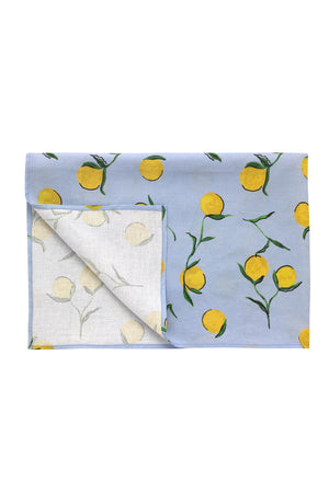 Linen Tablecloth Lemon Print