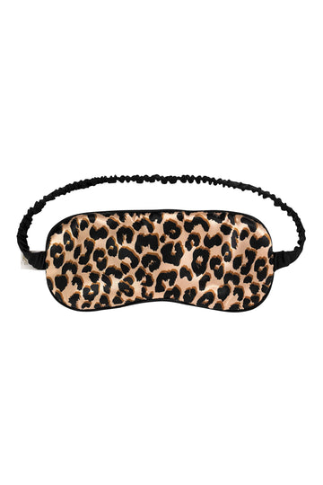 Leopard Print Silk Eye Mask | Silk Accessories | YOLKE