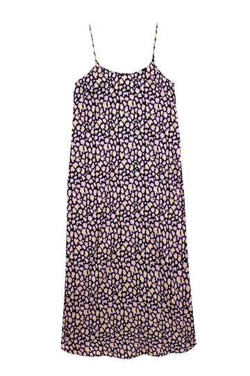 Leopard Purple Rain Juno Slip Dress | Silk Dresses & Daywear | YOLKE