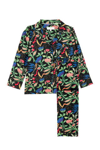 LiTTLE Anaïs Black Kids' Silk Pyjamas | Kids' Silk Pyjama Sets & Sleepwear | YOLKE