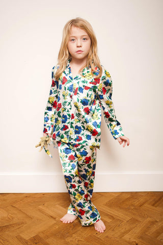 LiTTLE Dakota Meadow Kids' Silk Pyjamas | Kids' Silk Pyjama Sets & Sleepwear | YOLKE