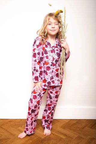 LiTTLE Dakota Plum Cotton Kids' Pyjamas | Kids' Pyjama Sets & Sleepwear | YOLKE