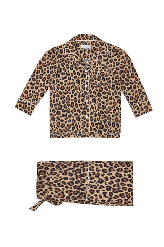 LiTTLE Leopard Print Kids' Cotton Pyjamas | Kids' Pyjama Sets | YOLKE