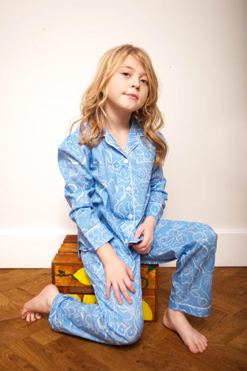LiTTLE Mayflower Kids' Cotton Pyjamas | Kids' Pyjama Sets & Sleepwear | YOLKE