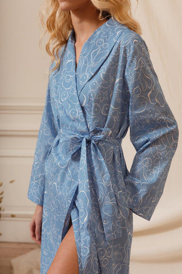 Mayflower Women's Cotton Dressing Gown | Cotton Sleepwear | YOLKE