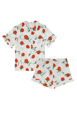 Thebe Set Orange Print
